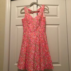 Lilly Pulitzer Neon Pink Floral Slater Dress 6